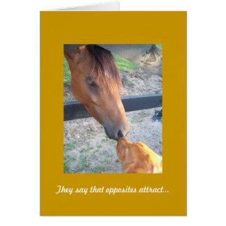 Golden Retriever Anniversary Card, Opposites Card