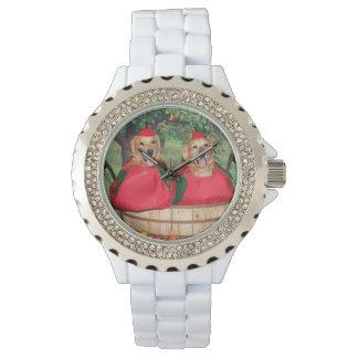Golden Retriever Apples in a Basket Watch