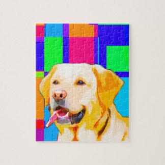 Golden Retriever Art Jigsaw Puzzle