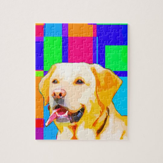 Golden Retriever Art Jigsaw Puzzle