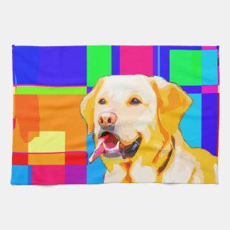 Golden Retriever Art Kitchen Towel