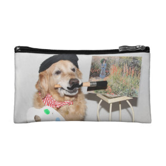 Golden Retriever Artist Cosmetic Bags