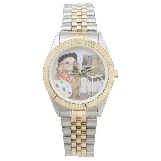 Golden Retriever Artist Watch