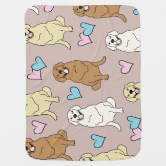 Golden retriever baby blanket