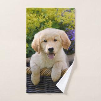 Golden Retriever Baby Dog Puppy Funny Pet Photo .. Bath Towel Set