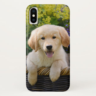 Golden Retriever Baby Dog Puppy Funny Pet Photo -' iPhone X Case