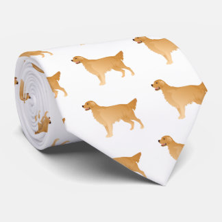 Golden Retriever Basic Breed Design Tie