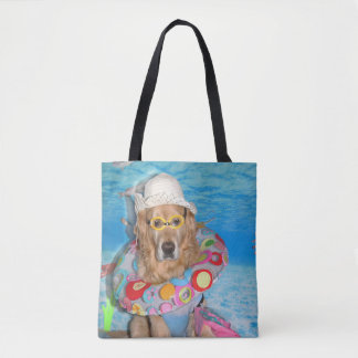 Golden Retriever Bathing Beauty Tote Bag