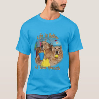 Golden Retriever Beach Babies T-Shirt