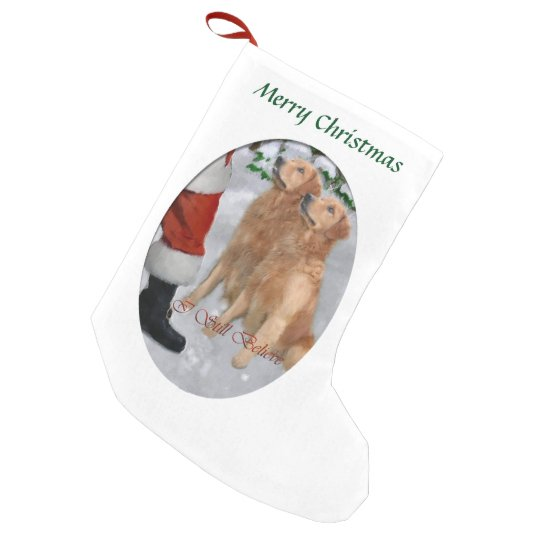 Golden Retriever Believe Christmas Small Christmas Stocking