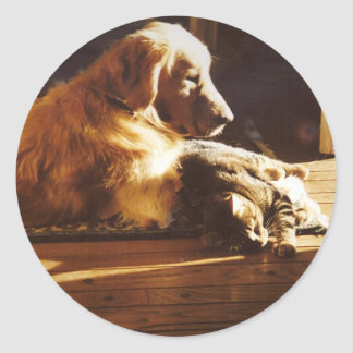Golden Retriever Best Friends Sticker