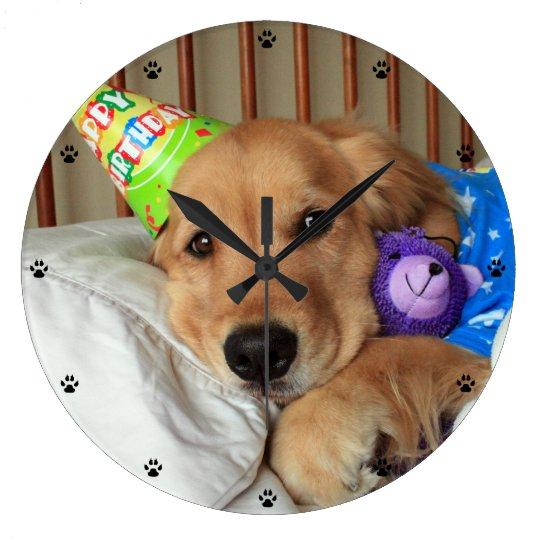 Golden Retriever Birthday Wallclocks