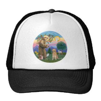 Golden Retriever Blessed by Saint Francis Trucker Hat