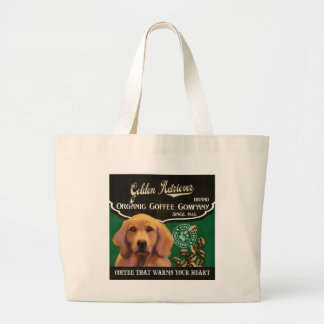 Golden Retriever Brand – Organic Coffee Company Jumbo Tote Bag