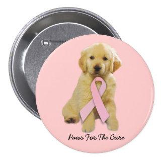Golden Retriever Breast Cancer Button