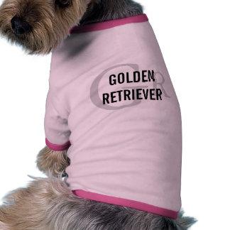 Golden Retriever Breed Monogram Design Pet Shirt