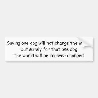 Golden Retriever Bumper Sticker, Save One Dog Bumper Sticker