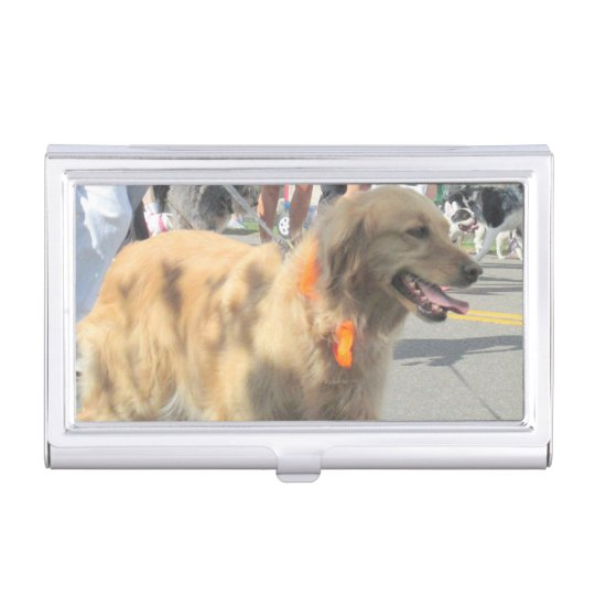 Golden Retriever Business Card Holder
