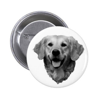 Golden Retriever Button
