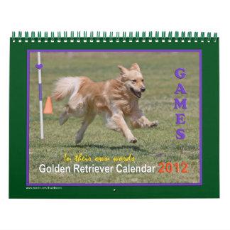 Golden Retriever Calendar 2012