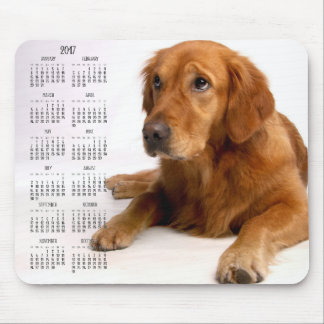 Golden Retriever Calendar 2017 Custom Mouse Pads