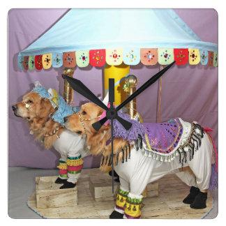 Golden Retriever Carousel Clock
