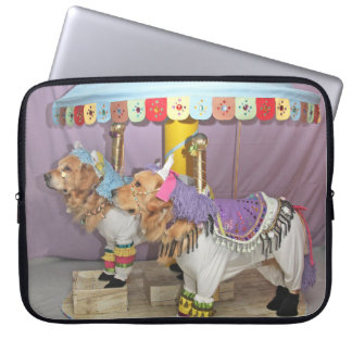 Golden Retriever Carousel Laptop Sleeve