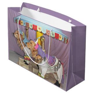 Golden Retriever Carousel Large Gift Bag