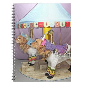 Golden Retriever Carousel Notebook