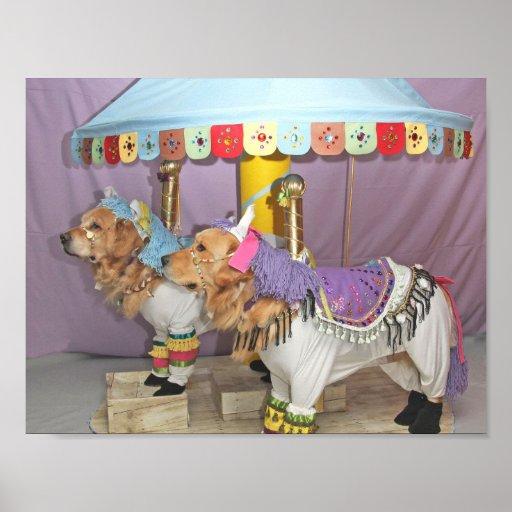 Golden Retriever Carousel Poster