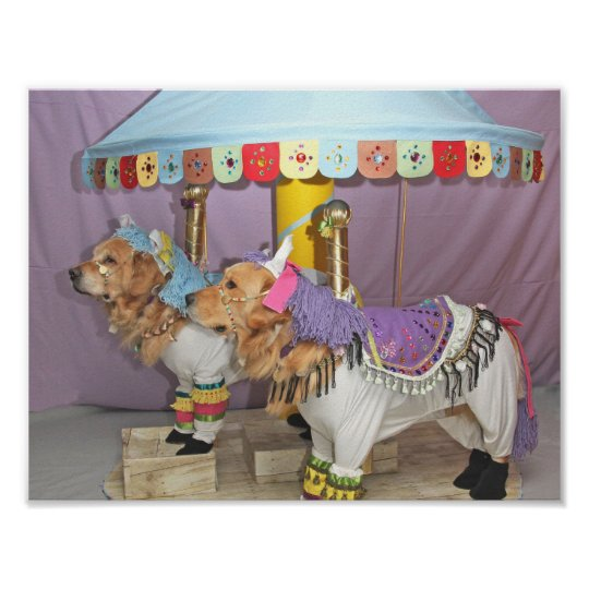 Golden Retriever Carousel Poster