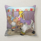 Golden Retriever Carousel Throw Pillow