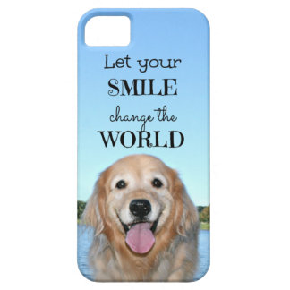 Golden Retriever Change the World iPhone 5 Covers