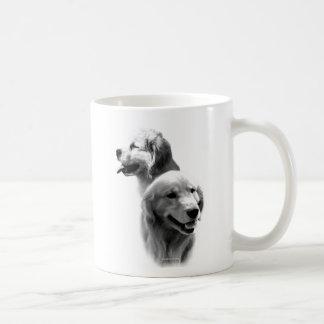 Golden Retriever Charcoal 2 Basic White Mug