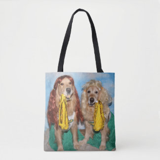 Golden Retriever Cheerleaders Tote Bag