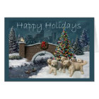 Golden Retriever  Christmas Card Evening4