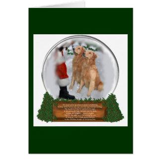 Golden Retriever Christmas Gifts Card