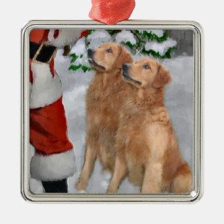 Golden Retriever Christmas Gifts Ornament