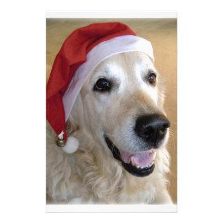 Golden retriever Christmas - Happy Christmas Dog Stationery