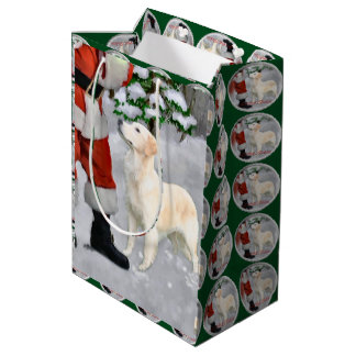 Golden Retriever Christmas Medium Gift Bag
