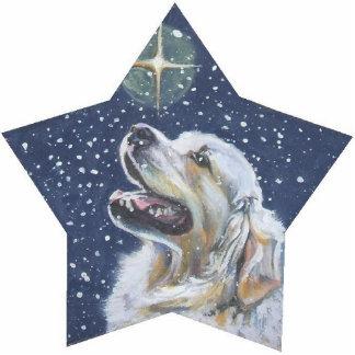 golden Retriever Christmas pin Photo Sculpture Button