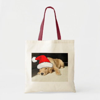 Golden Retriever Christmas Puppy Tote Bag