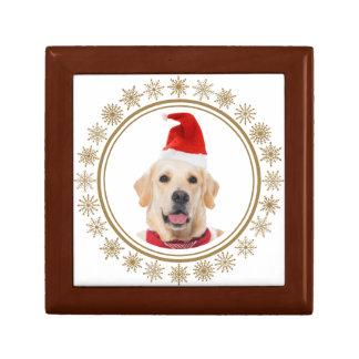 Golden Retriever Christmas Santa Hat Dog Lover Gift Box