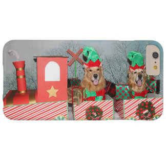 Golden Retriever Christmas Train Barely There iPhone 6 Plus Case