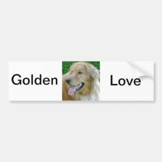 Golden Retriever Close-up Bumper Stickers