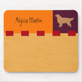 Golden Retriever ColorBlock Customizable Mouse Pad