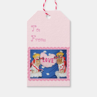 Golden Retriever Cupids of Love Gift Tags