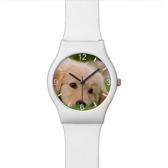 Golden Retriever Cute Puppy Dog Head -- dial-plate Watch