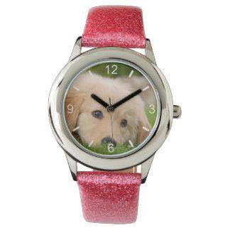 Golden Retriever Cute Puppy Dream  girl dial-plate Wrist Watch