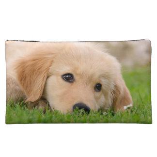 Golden Retriever Cute Puppy Dreaming, Cosmetics Makeup Bag